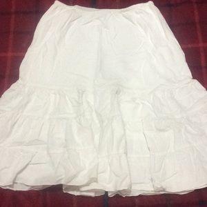White skirt 💛